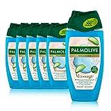 Palmolive Duschgel Wellness Massage 6 x 250 ml - Duschgel mit Meersalz, Aloe - Extrakt &...