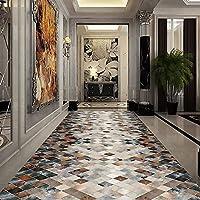 ランナーラグ、抽象的な廊下ホールランナーリビングルーム廊下滑り止めの耐摩耗性ポリエステルを備えた長いカーペット, 1X6.5M/3.28X21.32ft