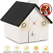 Zomma Anti Barking Device, 2020 New Bark Box Outdoor Dog Repellent Device with Adjustable Ultrasonic Level Control Safe for Small Medium Large Dogs, Sonic Bark Deterrents, Bark Control Device