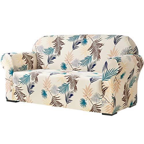 subrtex Weicher Stretch-Sofabezug für 2-Sitzer, Zweisitzer, waschbar, Möbelschutz, elastische Couchhussen für Kinder/Hunde (Loveseat, Gelb)