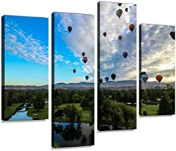 Canvas Wall Art Painting Pictures Spirit of Boise Modern Artwork Framed Posters for Living Room Ready to Hang Home Decor 4PANEL