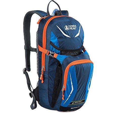 Terra Peak Rucksack Slipstream 2.0 XL Trinkrucksack Sportrucksack Verschiedene Farbvarianten, Farbe:Blue/orange
