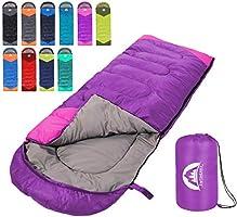 SWTMERRY- Sleeping Bag 4 Seasons (Summer, Spring, Fall, Winter) Warm & Cool Weather - Lightweight,Waterproof Indoor &...