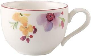 Villeroy & Boch Mariefleur Basic Tasse à moka/expresso, 80 ml, Hauteur : 4,5 cm, Porcelaine Premium, Blanc/Multicolore