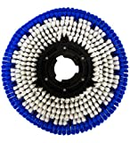 Janilink 15' Rotary Carpet Floor Brush Blue/White- Perfect fit for 17' Buffer/Scrubber
