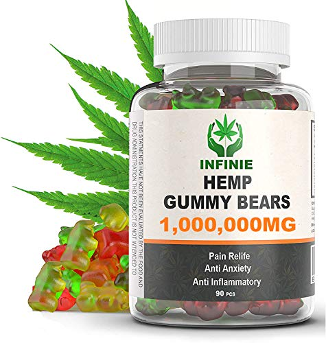 Premium Hemp Gummies – 1,000,000 MG – 1111 MG Hеmp in Each Gummy – All Natural Ingredients - Relief for Stress, Inflammation, Sleep, Anxiety, Depression – Vitamins & Omega 3,6,9