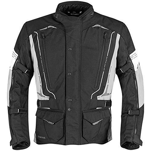 Germot Savannah Motorrad Textiljacke Schwarz/Hellgrau L