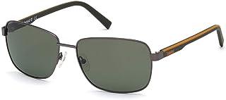 Óculos de sol Timberland TB 9196 09R bronze fosco frontal/verde hastes W. Laranja