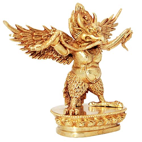 HUOQILIN Custodian of Kupfer Vergoldete Statuen Garuda Büro Der Verzierungen Kleine Skulptur