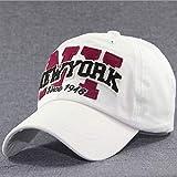 Gorra de béisbol de algodón con Bordado de Sarga, Gorra de béisbol Unisex de Moda con Bordado de Apliques