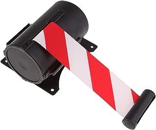 Almencla Sangle de Fixation Murale pour Corde de File dAttente Stanchion File dAttente Barri/ère Murale Contr/ôle de Foule R/étractable Rouge