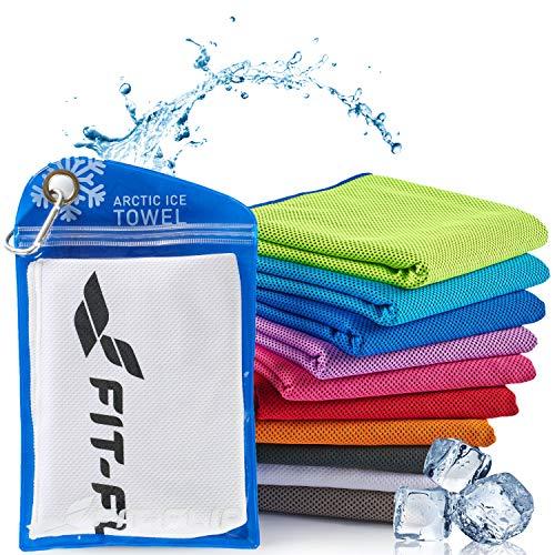 Fit-Flip Kühlendes Handtuch 100x30cm, Mikrofaser Sporthandtuch kühlend, Kühltuch, Cooling Towel, Mikrofaser Handtuch, Farbe: weiß, Größe: 100x30cm