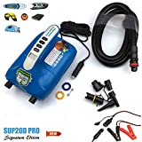 Seamax Intelligent 20PSI Digital Dual Stage 12 V Electric Air Pump, Progettato per Barca Gonfiabile, SUP, Paddle Board, Veloce a Raggiungere Alta Pressione
