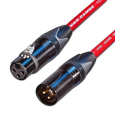 designacable NC3FXX-B-VDSQRD0100-NC3MXX-B 1 m Starquad Male to Female XLR Cable - Red