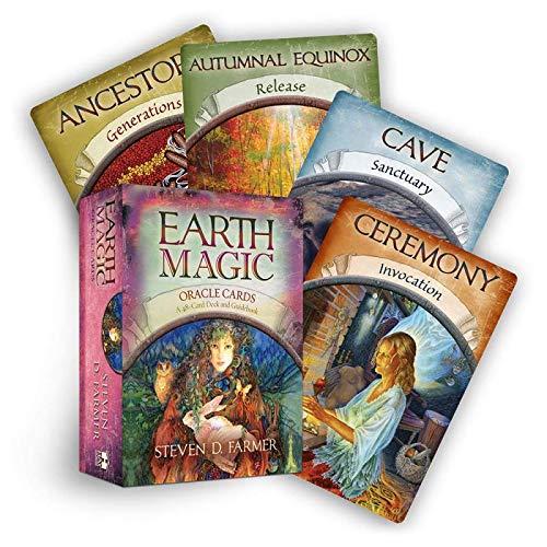 XINKANG Carte Caldo!!! Magic Oracle Cards Earth Magic Leggi Il Gioco di Carte Tarot del Destino per Uso Personale Tavolo Tavolo 48 Carte Mazzo E Guidebook Set