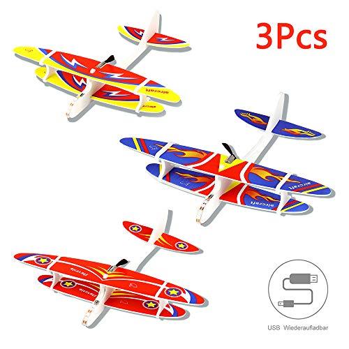 Herefun 3Pcs Avión Planeador Glider Avion Planeadores de