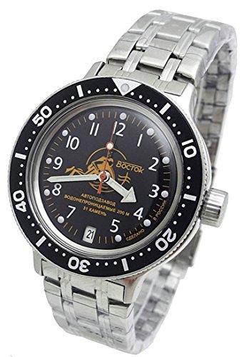Amphibia 2416/420380 - Orologio meccanico automatico con lunetta personalizzata, 200 m