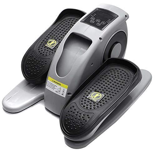 Kunyun Mini-elektrischer Fahrrad-elliptischer Trainer für Passive Bein- / Arm-Übung Laufband Slim Mini Walking Machine Fitnessgeräte`