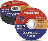 WORKPRO Discos de Corte, 20 Piezas, 115 X 1,2 X 22,2mm, para Metal y INOX
