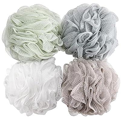4 Packs Loofah Sponges 60g/pcs Bath Puffs Body Scrub Loofahs for Showering