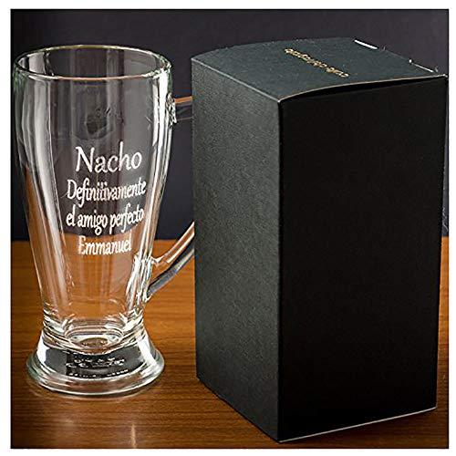 Calledelregalo Regalo Personalizable: Jarra de Cerveza Baviera grabada con el Texto Que tú Quieras