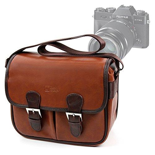 DURAGADGET Bolsa Profesional marrón con Compartimentos para Cámaras Holga CFN 120 Green | Colorflash | Jack | Kodak Pixpro FZ151