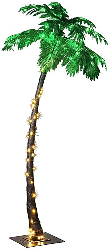 LIGHTSHARE 7 Feet Palm Tree 96LED Lights Decoration For Home Party Christmas Nativity Outdoor Patio