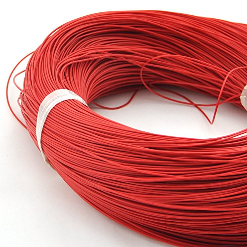 Electronics-Salon 10 m/32,8 Ft Rot ul-1007 24 AWG gestrandet Draht, PVC-Isolierung.
