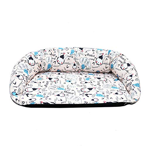 PPQQBB Large Pet Sofa Bed Cat Bed Waterproof Cool Non-Sticky Fully Removable And Washable Oxford Cloth Dog Bed Cat Bed