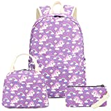 Bookbag Girls Elementary School Backpack Cute Schoolbag fit 15inch Laptop Insulated Lunch bag for Kids Travel Daypack