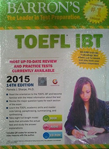 Barron's TOEFL iBT 2015 Guide (With DVD) by Pamela J Sharpe (2013-01-01)