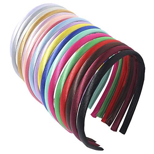 Satijnen hoofdbanden band hoofdband DIY haaraccessoires voor vrouwen meisjes mixing
