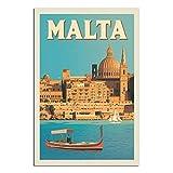 YRTZ Vintage-Reise-Poster Malta, Leinwand-Kunst, Poster,