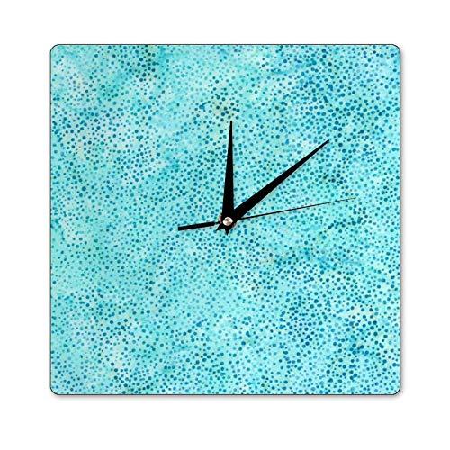 Mari57llis Hoffman Easide Bali Dots - Reloj de pared cuadrado (35 x 35 cm), diseño de puntos