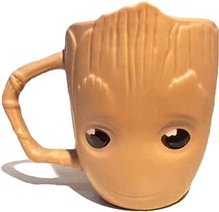 RedDreamer Groot Mug, 3D Molded Groot Coffee Mug Cute Baby Groot Mug Cartoon Ceramic Groot Head Mug for Tea, Coffee, Juice, Milk and Soup