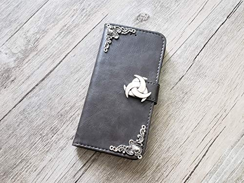 Trinity Celtic Knot Handmade Phone Wallet Stand Case Cover for iPhone 8 7 6 6s Plus X Xr Xs Max Samsung Galaxy S7 Edge S8 S9 S10 Plus Note 8 9 Mn0951