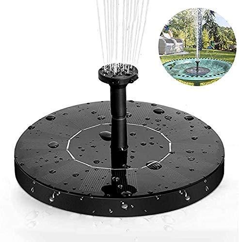 HZWLF Teichgarten Solarbrunnenpumpe 1.4W 160L / H Wasser mit 6 Düsen, schwimmend für Vogelbad, Dekoration, Wasserradfahren