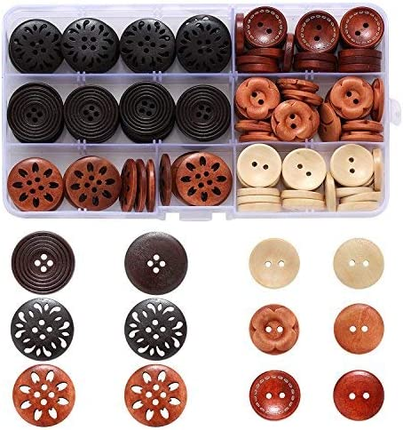 20 pcs coconut buttons lot butterfly pattern craft//kids sewing 15mm 4 holes