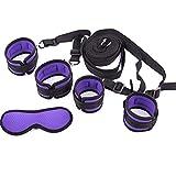 SuxHeart Juego de Correas de sujeción de Pareja Esposas para Tobillo (púrpura)