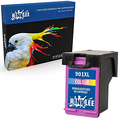 RINKLEE Wiederaufbereitete Tintenpatrone für HP 901 901XL kompatibel mit HP OfficeJet 4500 J4500 J4524 J4535 J4540 J4550 J4580 J4624 J4660 J4680 J4680c G510a G510g G510n   Dreifarbig