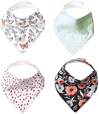 Baby Bandana Drool Bibs for Drooling and Teething 4 Pack Gift Set Dot by Copper Pearl product image
