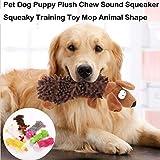犬子犬がおもちゃでSqueakers、歯が生えると中型犬、ぬいぐるみクリンクルきしむ動物の歯のクリーニング玩具、耐久性に優れ、健康に小型のためのガムのおもちゃを噛んで、ナチュラルコットンのおもちゃチュー lsmaa (Color : Brown)