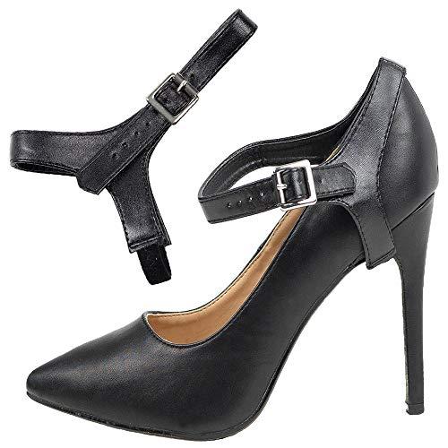 Abnehmbare Schuhbander - Zum Befestigen von hochhackigen Schuhen (Single Schwarz)