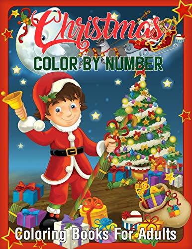 Christmas Color By Number Coloring Books For Adults: Mosaic Christmas Color...