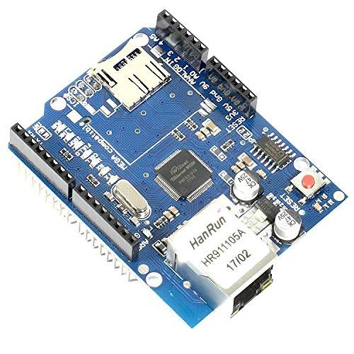 Paradisetronic.com Ethernet Shield + MicroSD-Karten Slot, W5100 Netzwerk-Controller für Arduino UNO/Mega Webserver