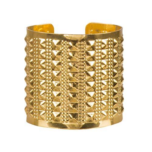 Goldfarbener Pharaonin Armschmuck Cleopatra / Gold / Edler Armspange Königin des Nils / EIN Highlight zu Karneval & Kostümfest