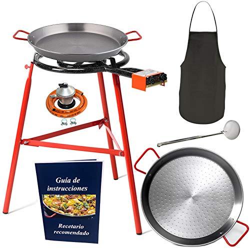 Makumba-Kit de brûleur à gaz de 50 cm, réchaud à gaz butane, poêles 60 cm+42 cm, régulateur de gaz + tuyau gaz, lot de 3 pieds renforcés, palette de cuisine, guide d instructions et de recettes