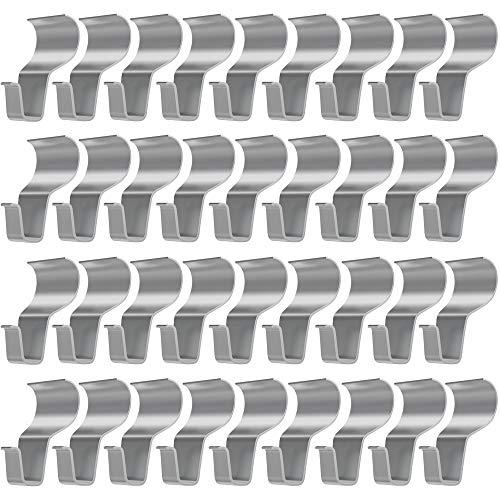 Vinyl Siding Hooks for Hanging [36 Pack], Stainless Steel Hangers for Vinyl Siding, No Drilling Needed Low Profile Heavy Duty Vinyl Siding Hooks Clips for Wreath/Decor/Tool/Light Hanging