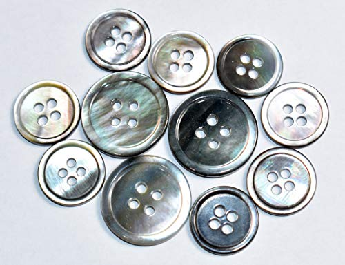 CUMUO 100 Pieces Jeans Button Tack Jacket Buttons Metal Replacement Kit in Nice Box Mix Design