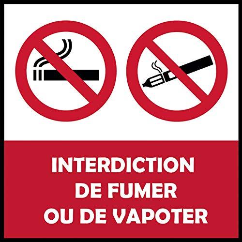 Panel de PVC prohibición de Fumer, 3 mm